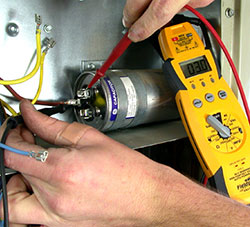 heater repair furnace repair central gas furnace repair. Capacitor failure could be the reason that the air conditioner fan motor failed